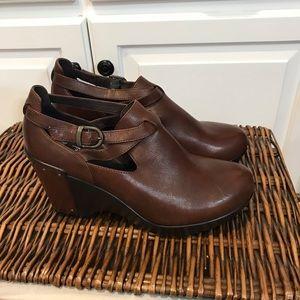 Dansko Brown Leather Wedge Size 38